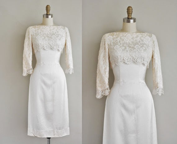 Fifties Wiggle Wedding Dress - Affordable 1950s Wedding Dresses