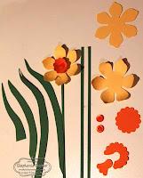 SU, Punch Art, Daffodil, 3-D flower