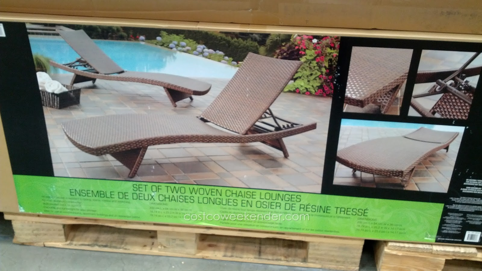 Andersen stokke aloha woven chaise lounge chair costco for Chaise evolutive stokke