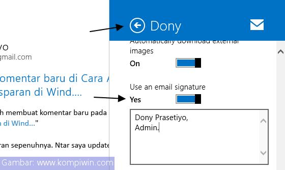 Cara Menghilangkan/Mengubah Tanda Tangan pada Aplikasi 'Mail' Windows 8.1 4
