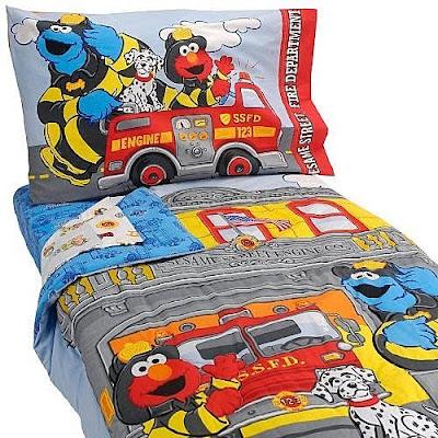 Elmo Bed Sheets Elmo Firefighter Bedding For