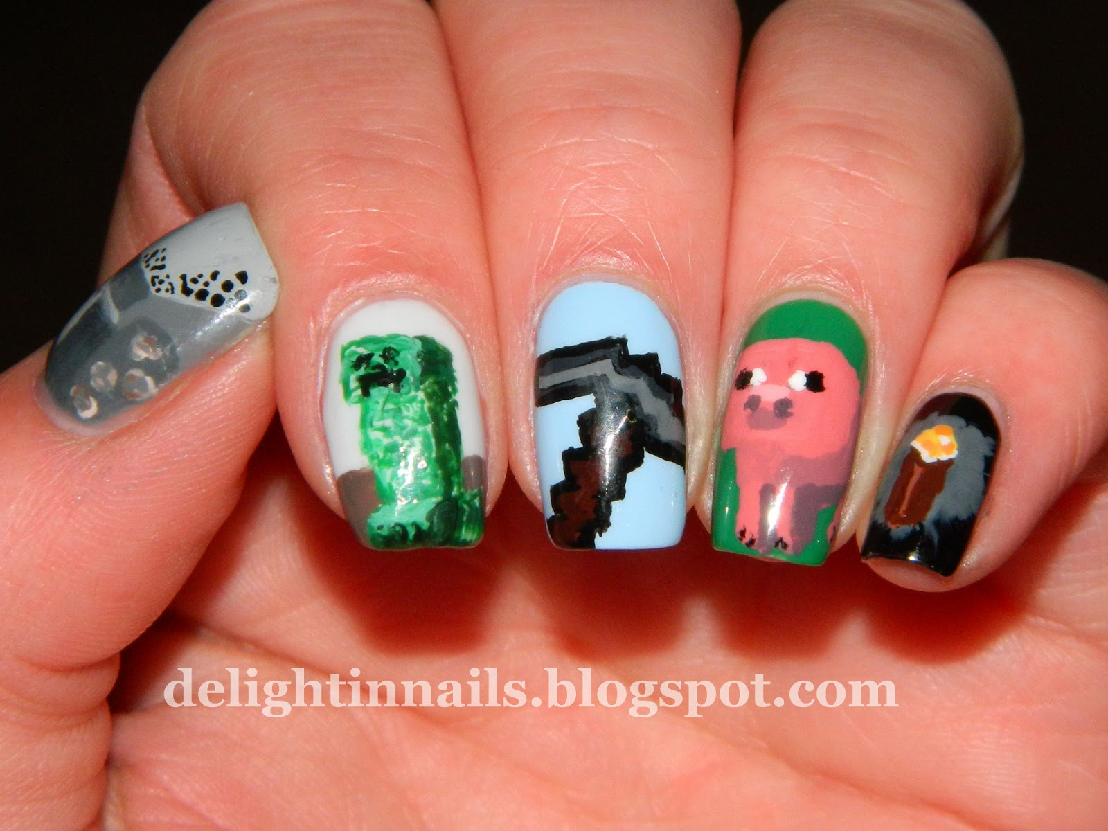 Delight In Nails: Laid-Back NEW31DC Day 24 - Inspired By A Game
