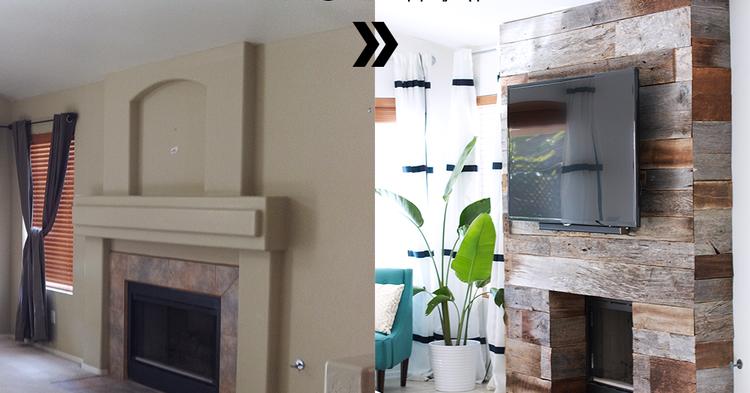 initiales gg avant apr s un manteau de chemin e r nov avec du bois de r cup 39. Black Bedroom Furniture Sets. Home Design Ideas