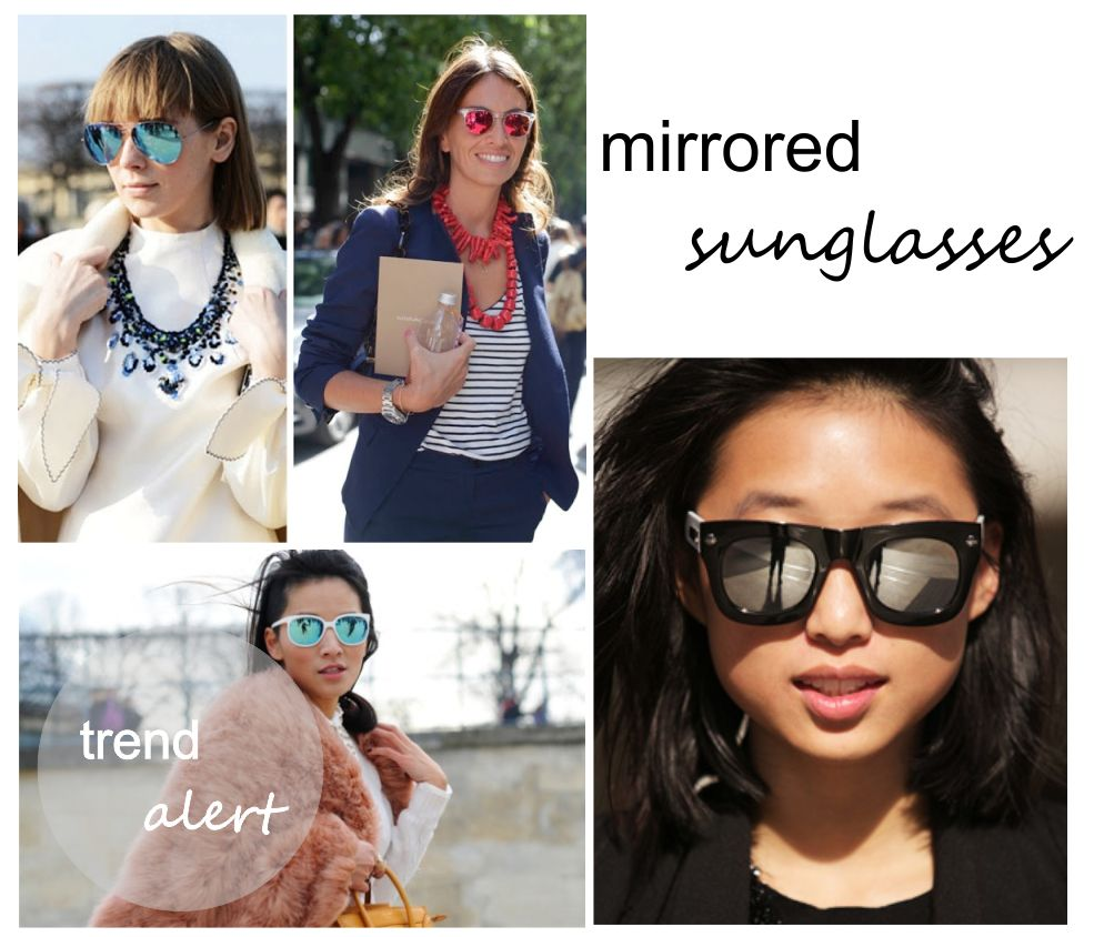 The Fashion Menue: Trend Alert: Mirrored Sunglasses