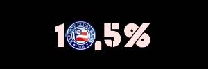 10,5% de probabilidade para o Bahia