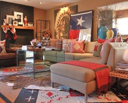 Staircase Dimwit: Eclectic Living Room