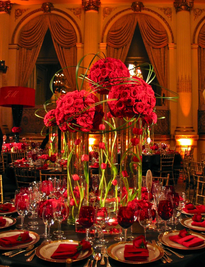 Wedding centerpieces on pinterest red