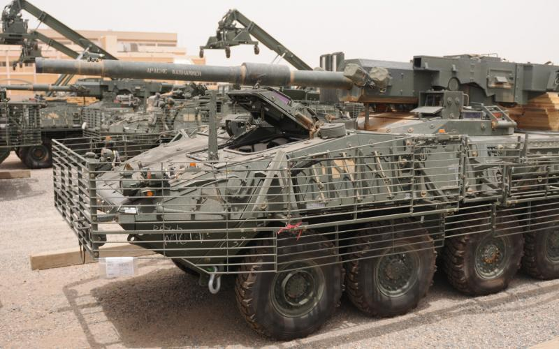 Wired Right: The U.S. Army Stryker outfitted with an anti RPG defensive  cage.