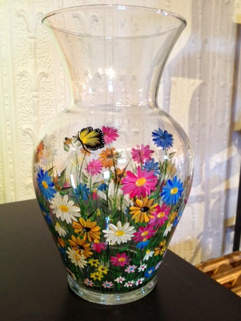 Gem Craft Boutique New Arrivals Spring 2014 Hand painted glassware by Sharon Jones