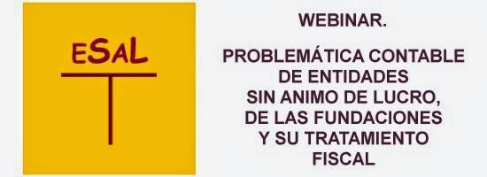 webinar Problematica contable de Entidades sin Ánimo de lucro, de las fundaciones y su fiscalidad.