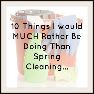 Spring cleaning SUCKS BALLS! Here's a list of ten things I'd rather be doing.