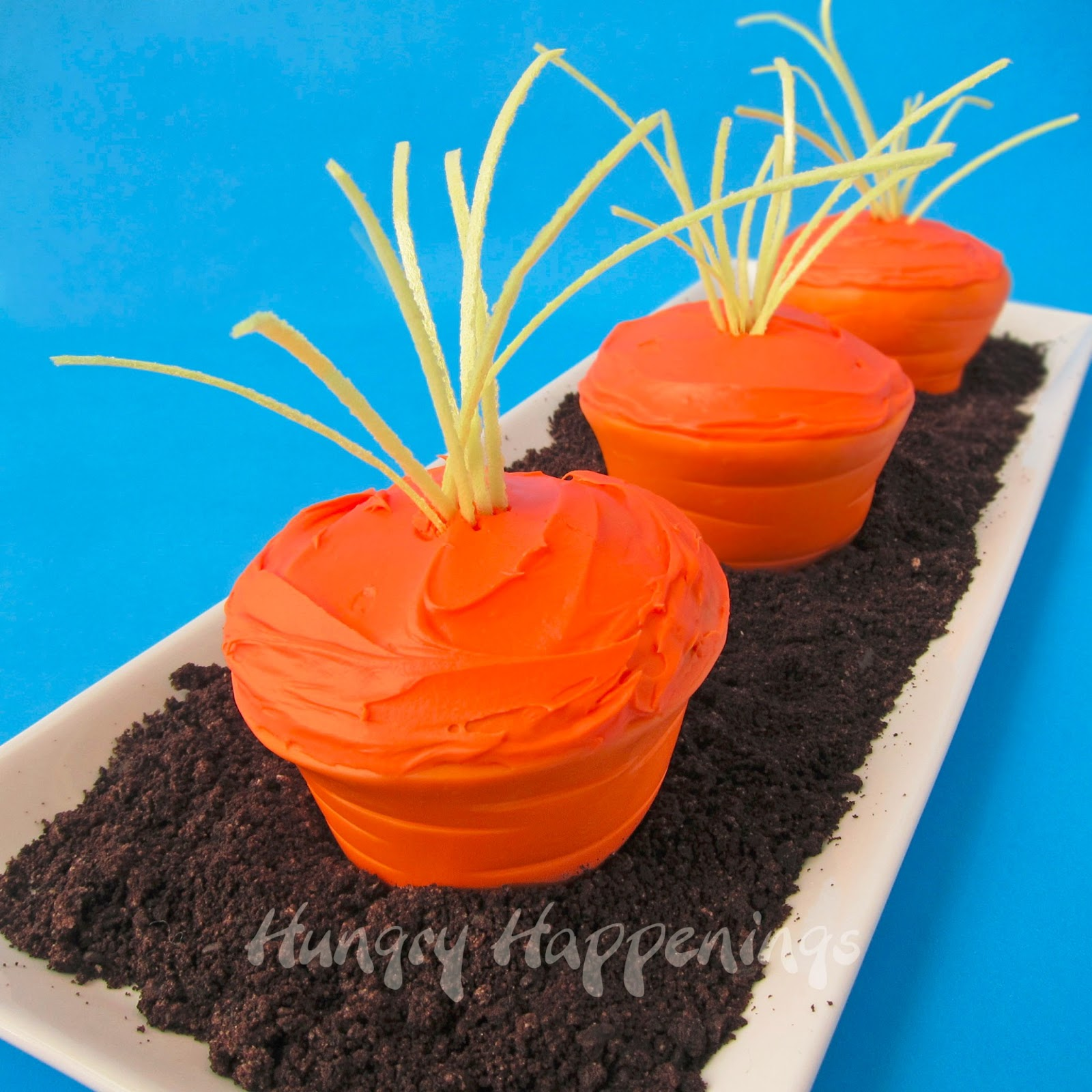 Easter carrot top cupcakes with edible cupcake wrappers the easter bunny will be dying to get his paws on these delicious easter carrot top negle Images