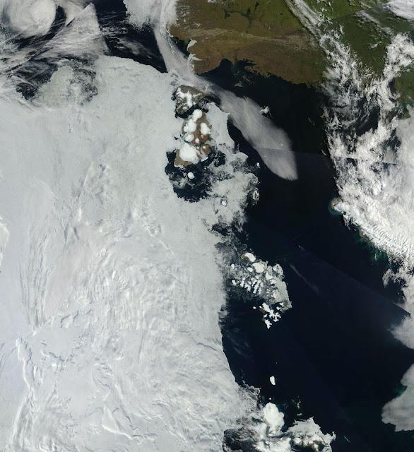 Arktyka, NASA satelite image
