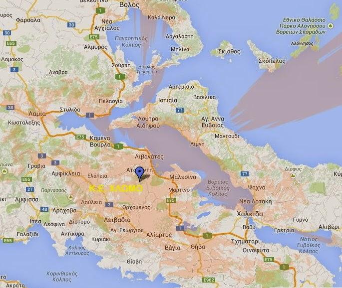 Χάρτης κάλυψης ψηφιακού σήματος για τη ψηφιακή μετάβαση της Στερεάς Ελλάδας…