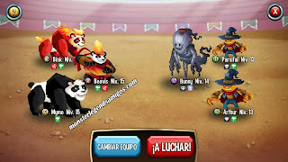 imagen de la segunda batalla del challenge battle de monster legends ios 1