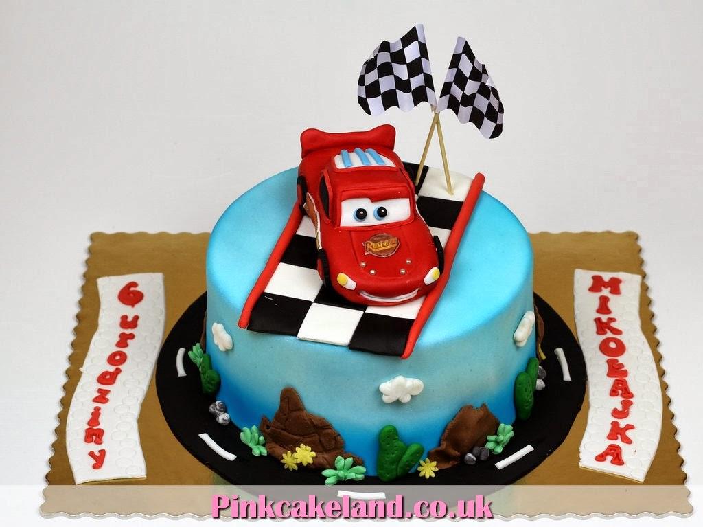 Lightning McQueen Bday Cake Surrey