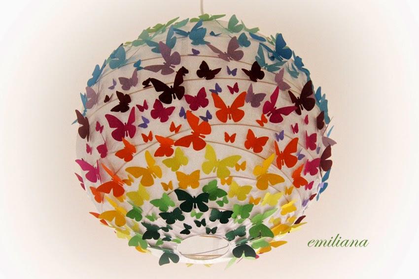 L u0026#39;alternativa  Lampadario con farfalle e cuori parete -> Lampadario Farfalle Fai Da Te