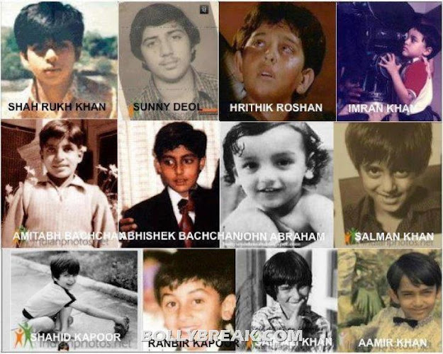 Bollywood actors in their childhood - Bollywood actors Childhood Pics