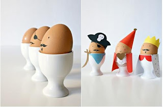 uova sode decorate con carta decorated eggs paper