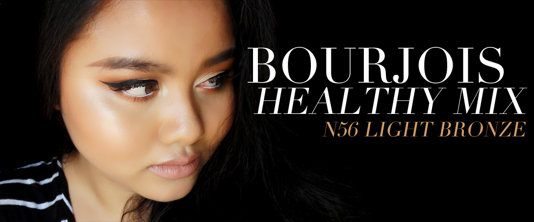 This image shows a Bourjois healthy mix full review on N56 Light Bronze.