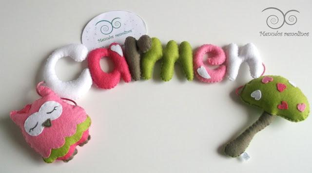Nombre decorativo para bebé y niño