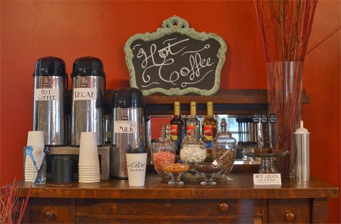 DIY Wedding Reception Coffee Station