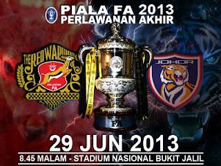Gambar Perlawanan Akhir Piala FA 2013 Kelantan VS JDT