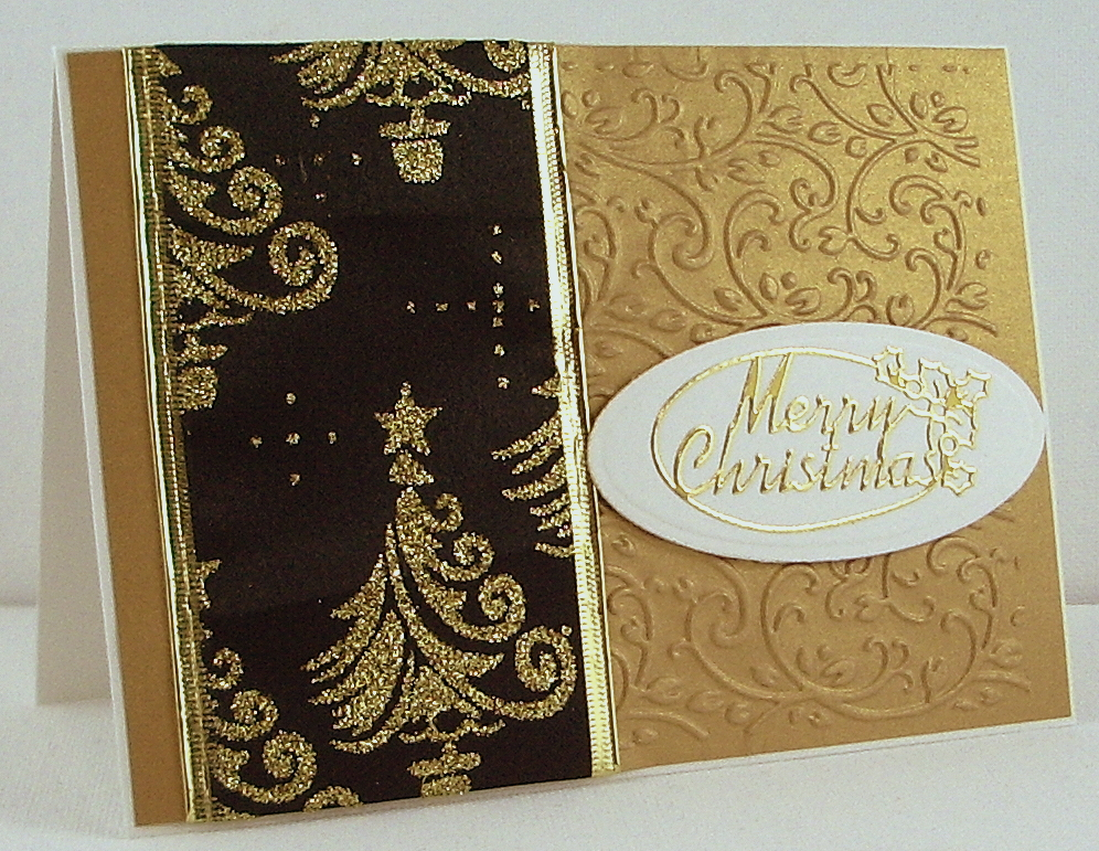 Jenfa Cards Black And Gold Christmas