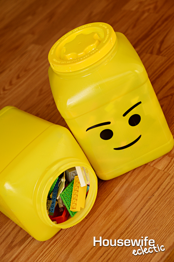 DIY Lego Head Storage Containers Housewife Eclectic