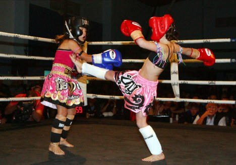 Asian girls kickboxing what necessary