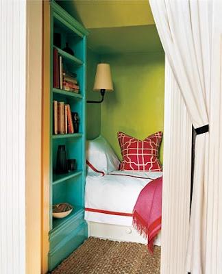 Turquoise and Red Room