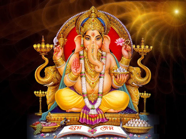 Lord Ganesha Shubh Labh HD Wallpapers Download