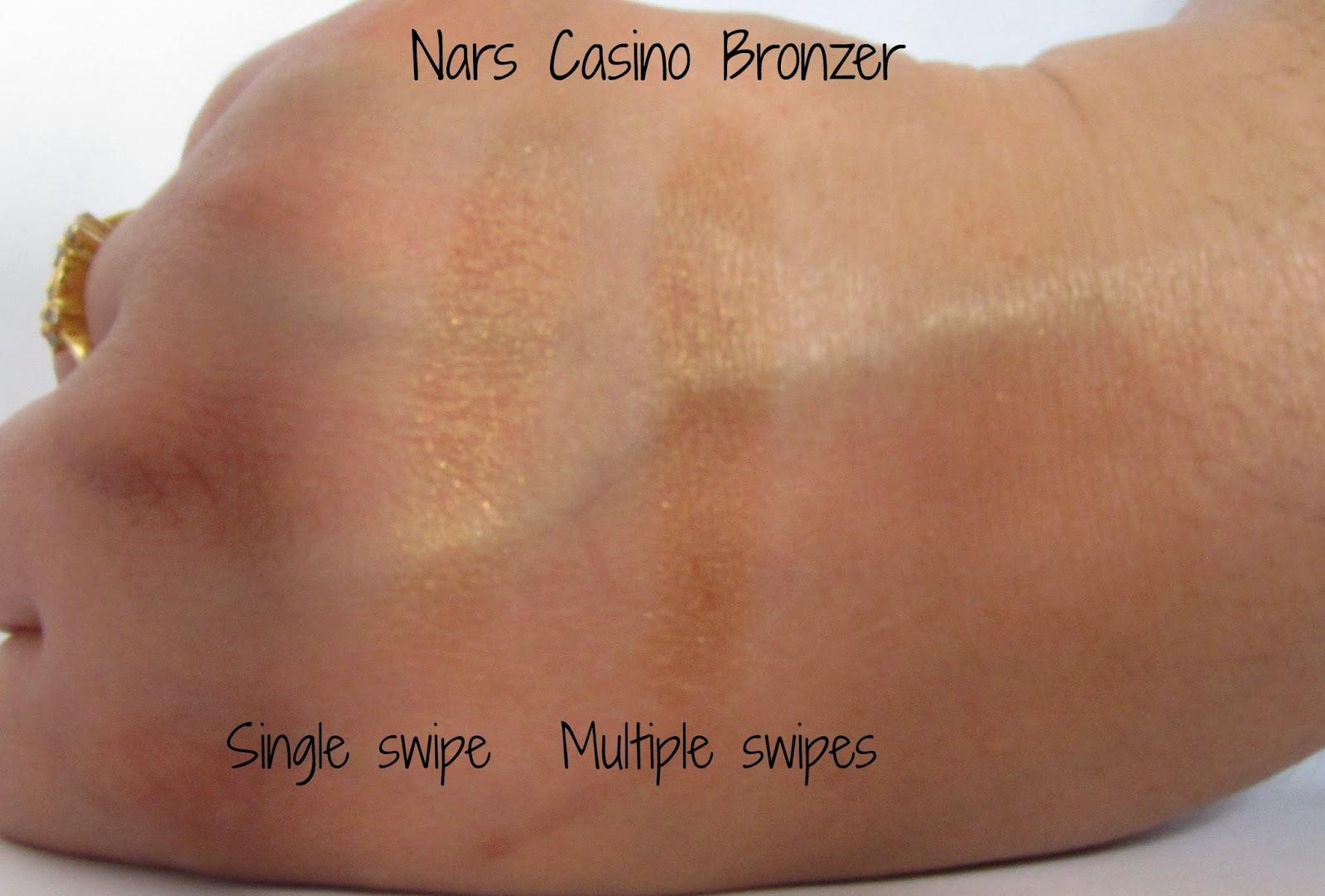 nars casino bronzer swatches