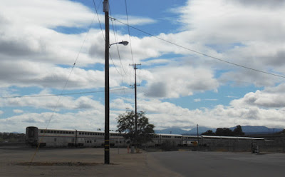 Amtrak Train in Paso Robles, Clouds, and Power Liines, ©B. Radisavljevic