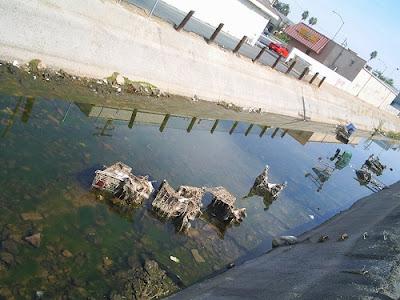 California illegal dumping, industrial zone, hilarious