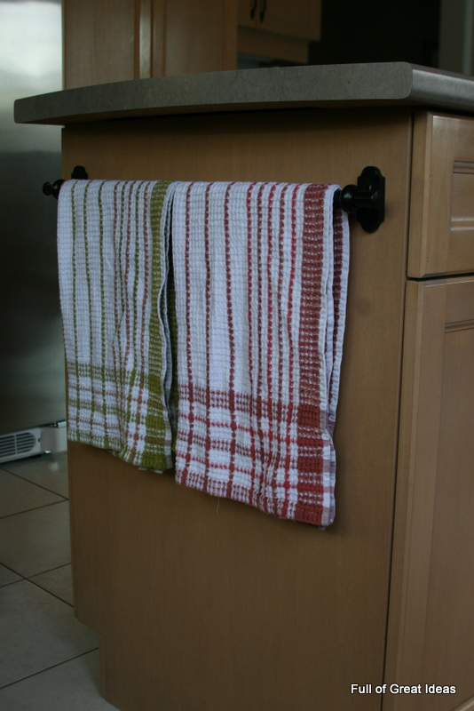 Full Of Great Ideas: Problem Solved   Where To Hang The Kitchen Hand Towel