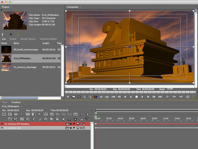 The Avid FX interface that is accessed in the Avid Media Composer Effect Editor.