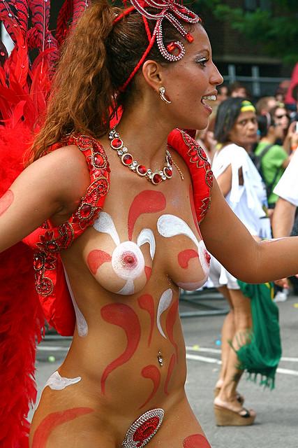 Body Painting S Hot Brazilian Samba Painted