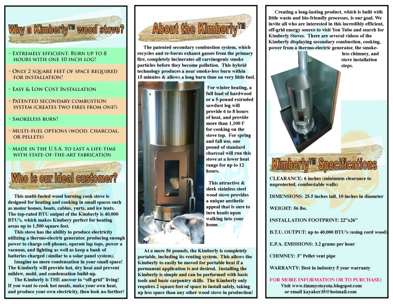 For further information, reviews, and stats on the Kimberly stove, please  visit - Living In A Van Down By The River!!!: Information/Purchase The