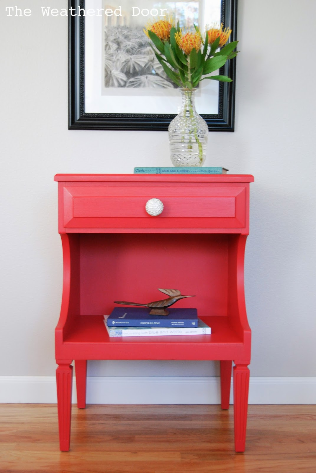 painted red furniture. Poppy Red Nightstands Painted Furniture I