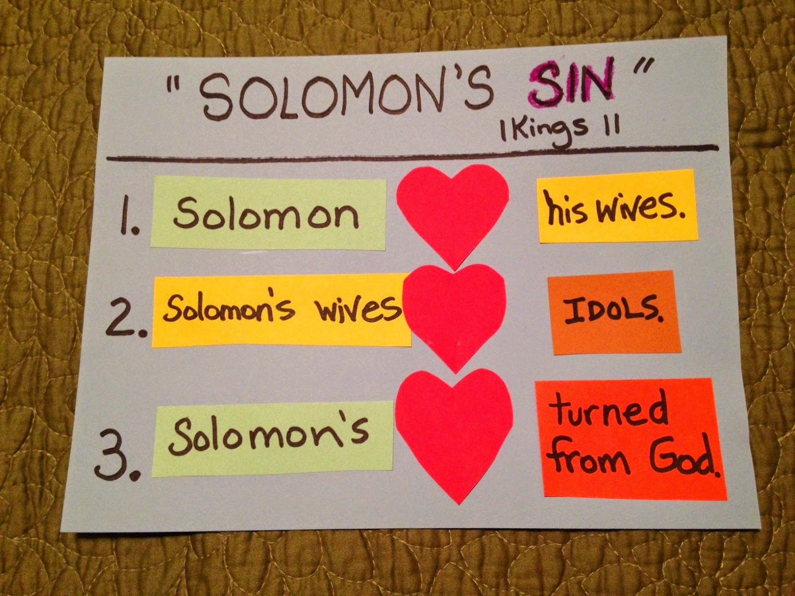 Children 39 s bible lessons lesson troubles at the end of for King solomon crafts for preschoolers