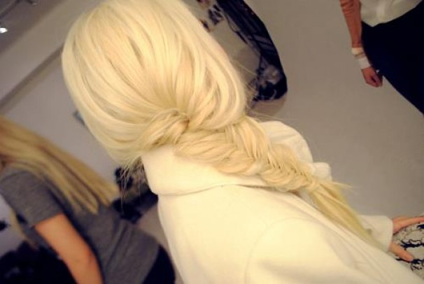 white hair fashion