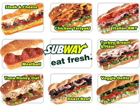 graphic relating to Printable Subway Menu identify Random Things For No cost: Subway Coupon codes Printables 2012