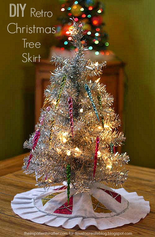 Ilovetocreate diy retro christmas tree skirt