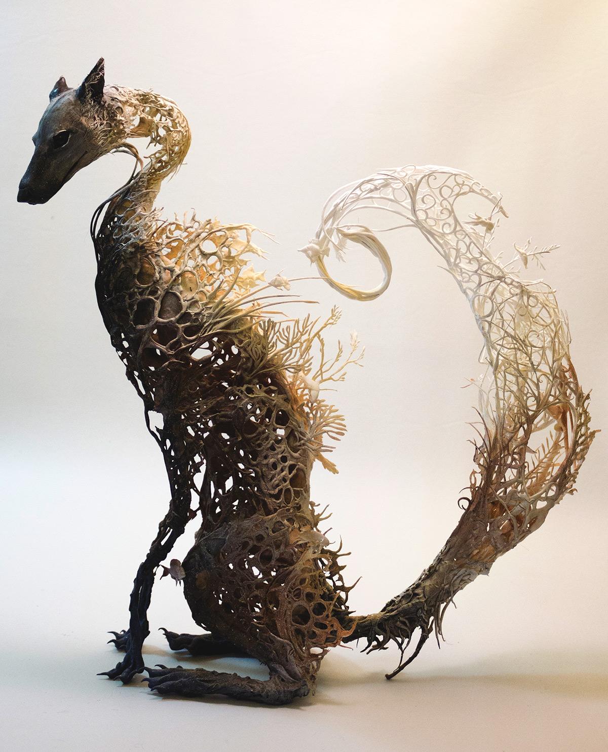 volpe-sculture-surrealiste-ellen-jewett