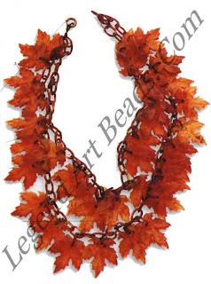 Plastic Leaves Necklace