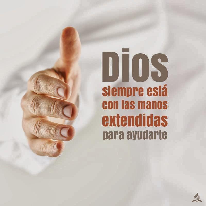 Dios siempre esta con las manos extendidas