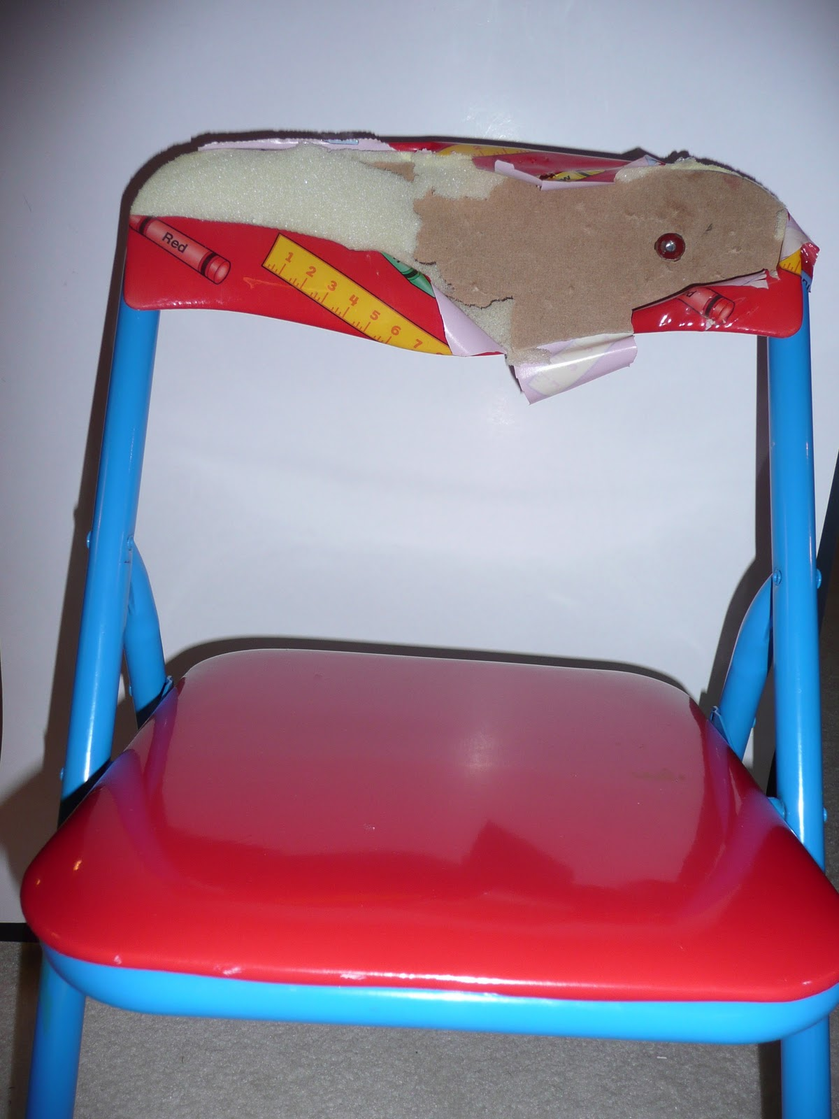 The Craft Tutor Reupholster Children s Folding Chairs