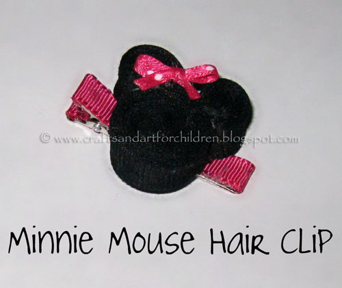 Minnie Mouse Hair Clip