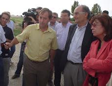 inauguración del primer pozo de sequía en Murcia (02-09-2005)